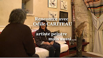 Odile Cariteau dans son atelier. L'Artiste Peintre répond aux questions de Michel Lecomte pour le Réseau Social TvLocale