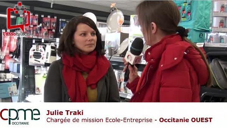 ITV - Julie Traki Chargée de mission Ecole-Entreprise -  @CPMEoccitanie  OUEST - @CPMEnationale