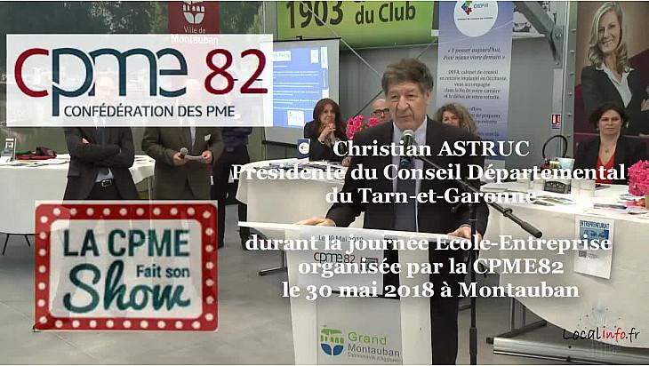 Christian ASTRUC Président du CD82 présent à l'inauguration de la journée Ecole-Entreprise de la #CPME82 @tarnetgaronneCG @ChristianAstruc