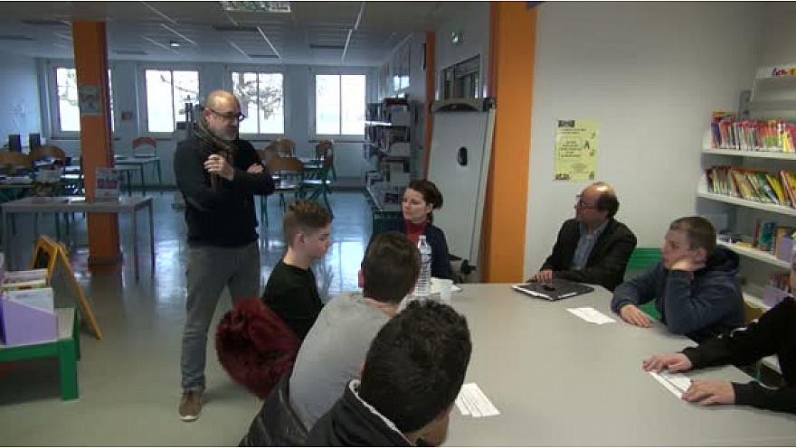 CPME 82 : Les élèves du collège Jean de Prades rencontrent Monsieur ALBERO Gérard, maître d'oeuvre - @CPMEoccitanie