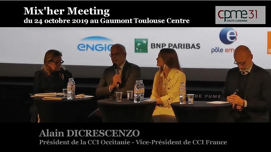 Mix'Her CPME 31 : Intervention de Alain DI CRESCENZO Président de la CCI Occitanie - vice-Président CCI France @DiCrescenzo_A @cpme31 @CCIoccitanie