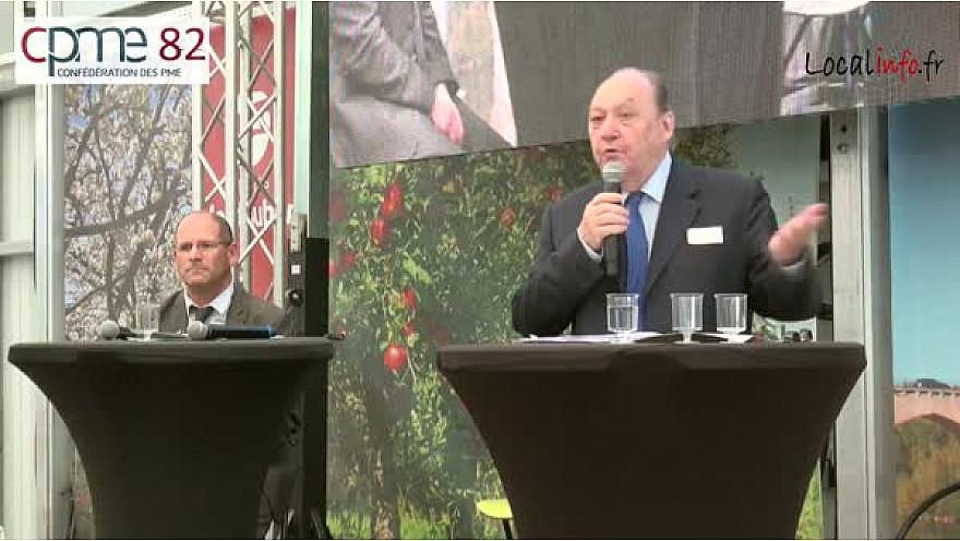 Intervention de Roland CAYROL Politologue à la journée de la CPME82 en présence de François ASSELIN Président National de la CPME @CPMEnationale #RolandCayrol