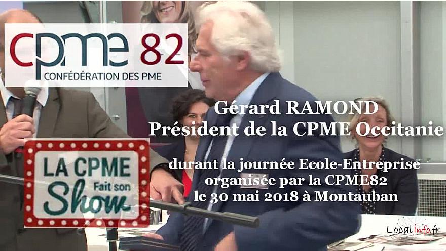 Gérard RAMOND Président de la CPME Occitanie,  parle des entrepreneurs avec ses mots justes qui claquent @CPMEoccitanie #CPME82 @CPMEnationale