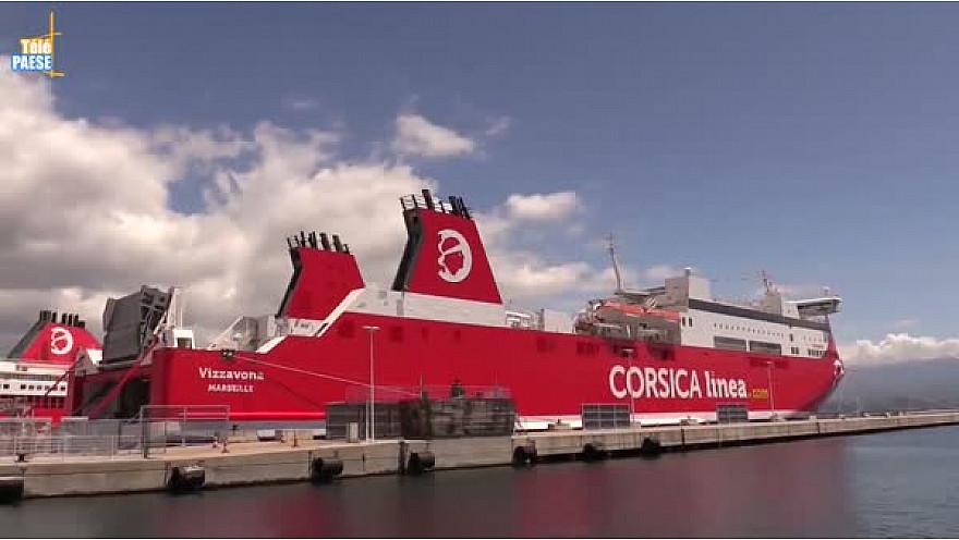 Télé Paese Corsica:  Cérémonie d'entrée en flotte en grande pompe pour le nouveau navire de la Corsica Linea